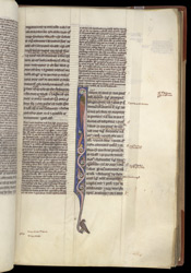 Decorated Initial, In Aristotle's 'Metaphysics' With The Commentary Of Averroes, And 'Ethics' f.37r